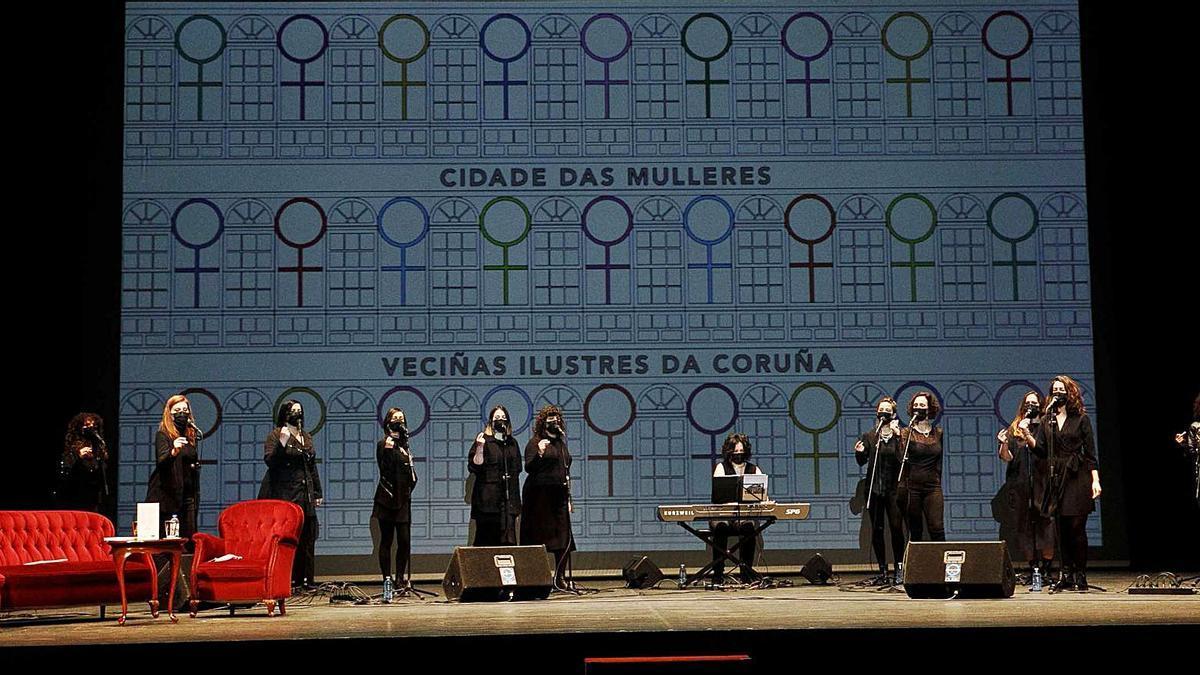 Actuación do coro Sisters in the House o pasado mes de marzo no Teatro Rosalía.   | // ANDY PÉREZ