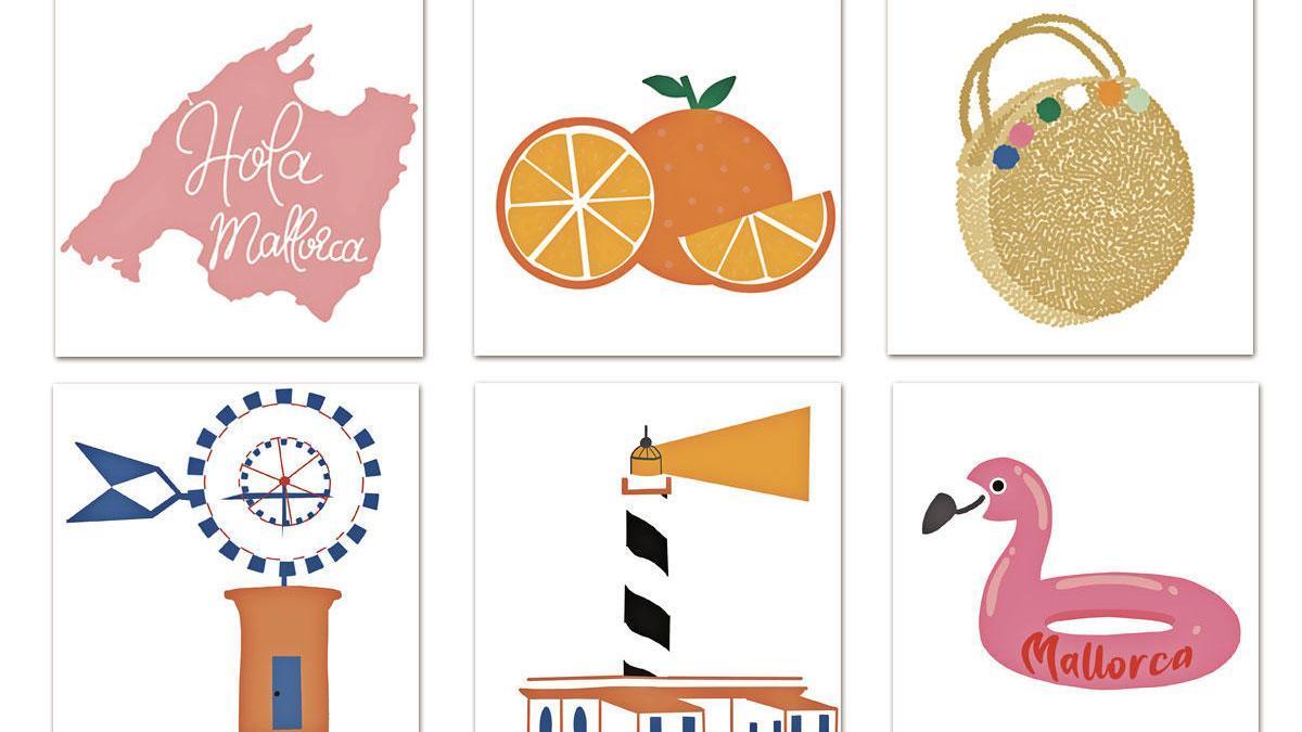 Viele der Mallorca-Sticker haben schon auf den ersten Blick einen klaren Insel-Bezug.