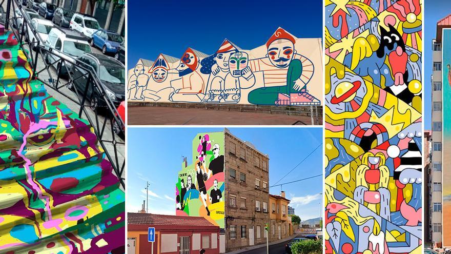 Así serán los nuevos grafitis de las medianeras de Vigo