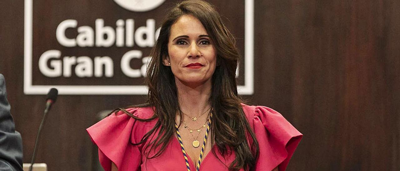 Margarita González, consejera de Recursos Humanos, durante su toma de posesión en el Cabildo en 2019.     LP/DLP