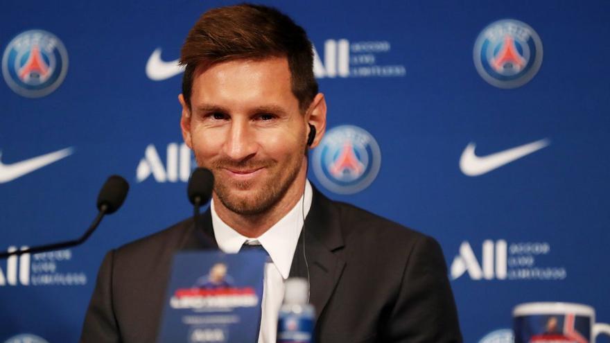 """Messi, en su presentación con el PSG: """"Jugar con Neymar y Mbappé es una locura"""""""