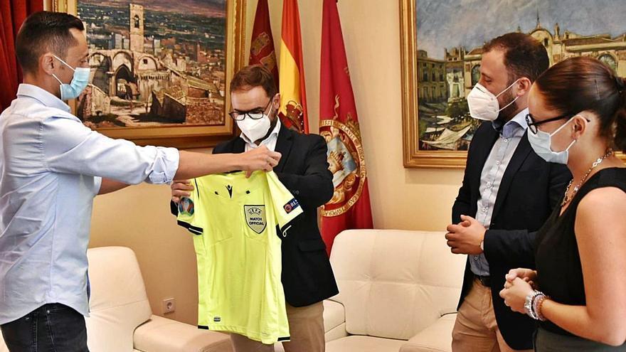 Sánchez Martínez visita Lorca tras la Eurocopa