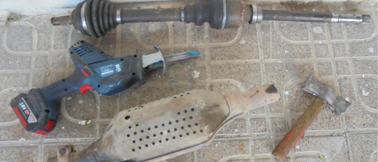 Imagen del material intervenido durante la operación.