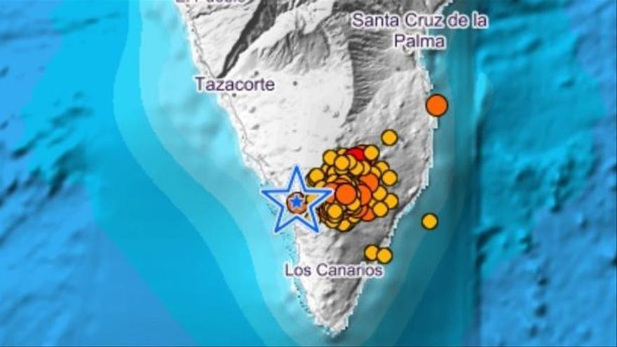 Registran casi 40 sismos en La Palma durante la noche