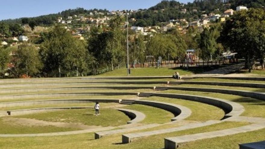A Riouxa, un amplio espacio verde