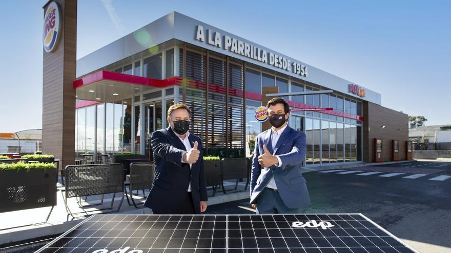 EDP hará que 300 restaurantes de Burger King funcionen con energía sostenible