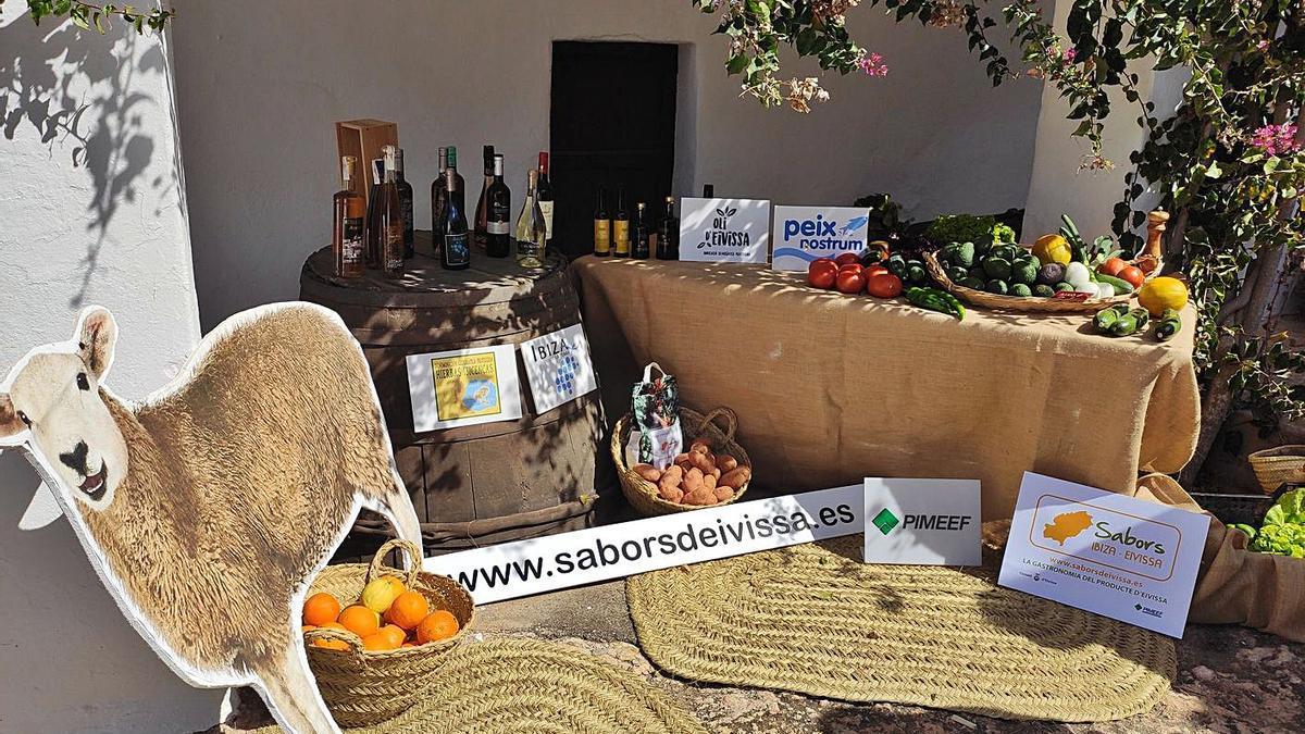 Un bodegón de Ibiza Sabors 2021 durante la presentación de las jornadas. | IBIZA SABORS 2021