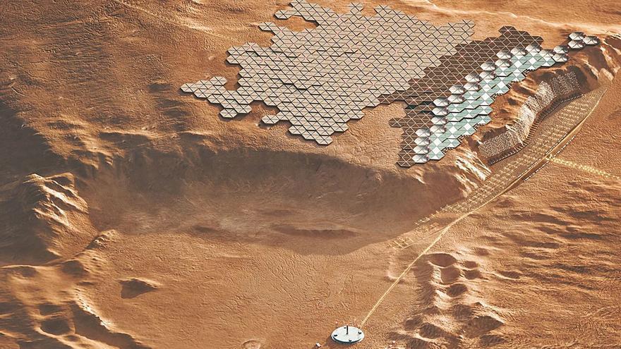 La primera ciudad de Marte