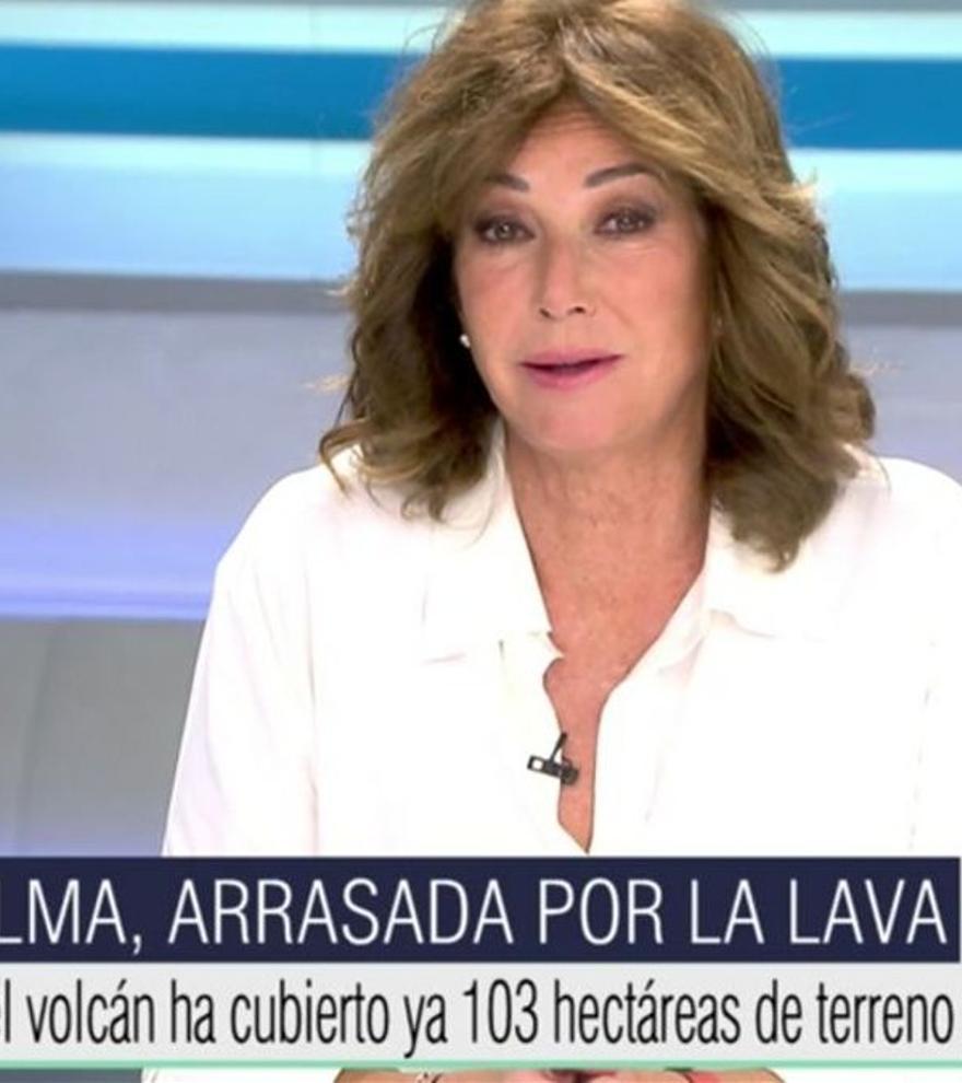 La pregunta de Ana Rosa sobre la erupción del volcán que dejó desconcertada a la meteoróloga de Telecinco