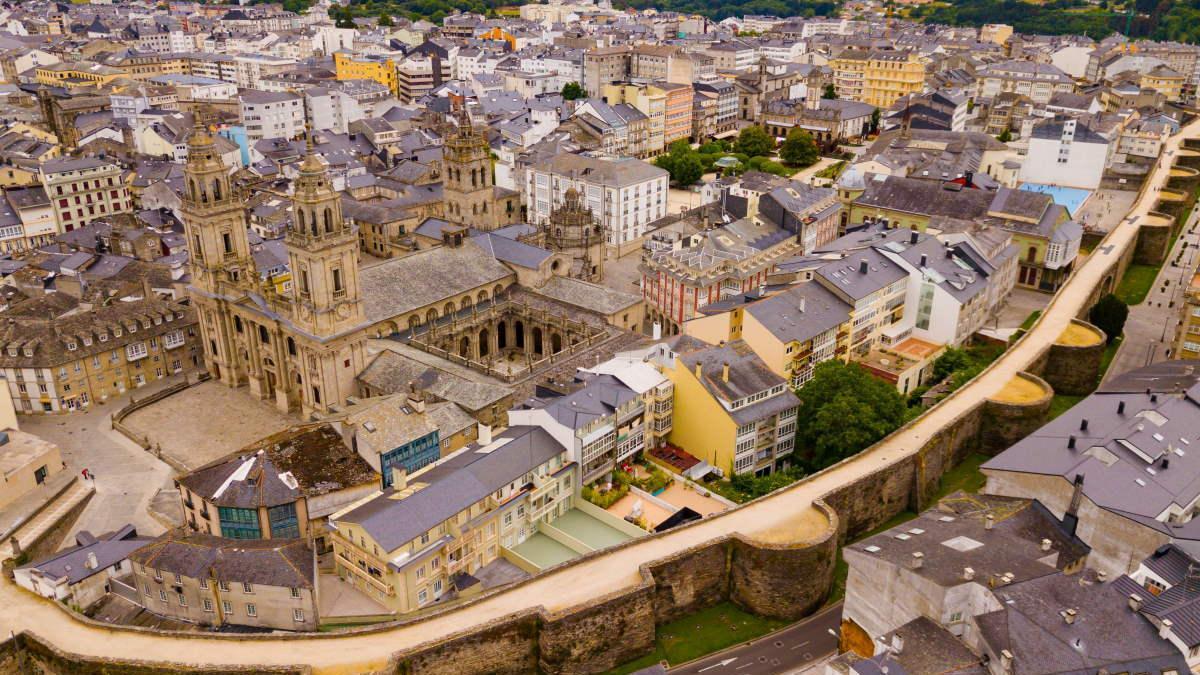 Vista aérea de Lugo.