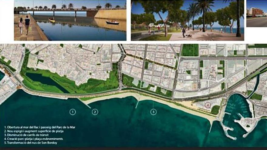 El lago y el paseo del Parc de la Mar se abrirán a la bahía y se ampliará la playa