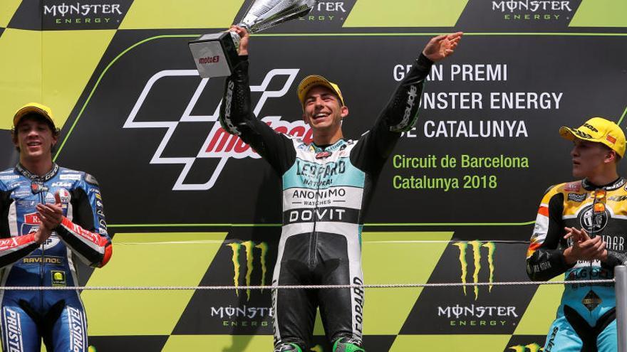 Bastiniani, vencedor a Moto3 per davant de Bezzecchi
