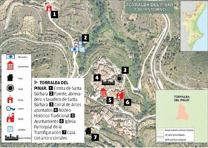 Plano del patrimonio histórico de Torralba del Pinar