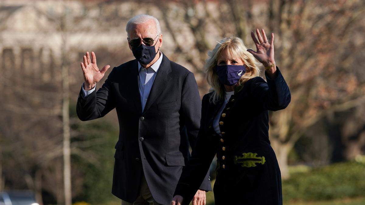 US President Joe Biden and First Lady Jill Biden.