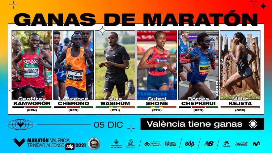 Maratón Valencia anuncia los atletas élite para volver a ser el más rápido del año