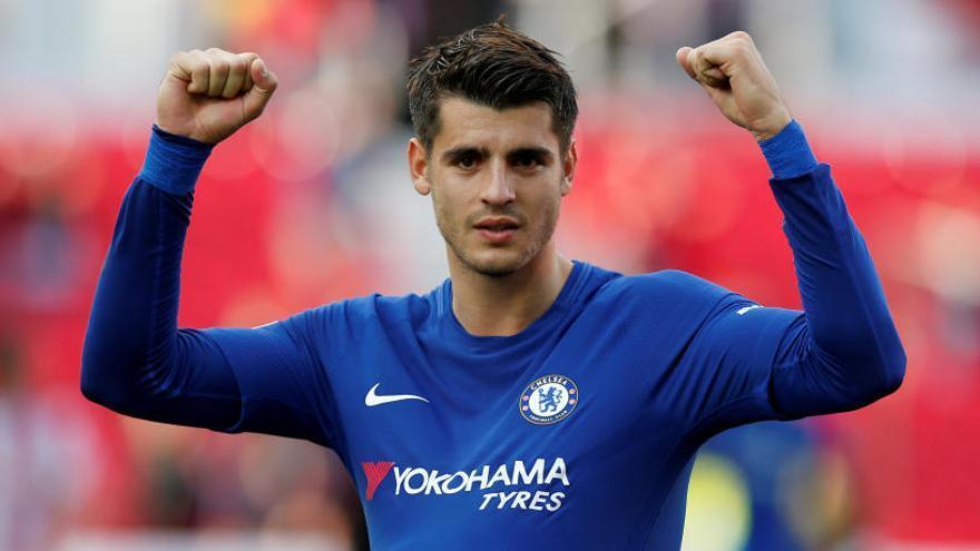 El Chelsea golea al Stoke con triplete de Morata