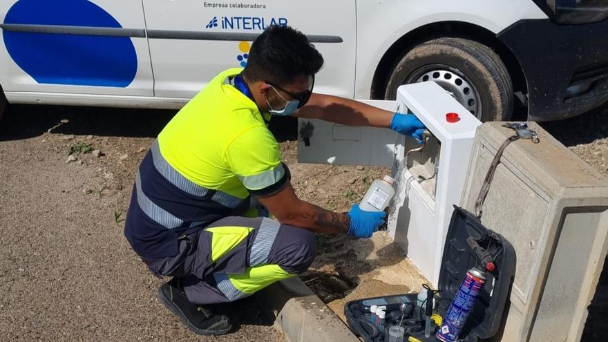 Aguas de Lorca realiza controles preventivos de legionela en sus redes de distribución