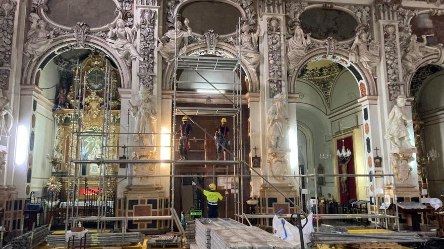 Arrancan las obras de restauración de la Iglesia de los Santos Juanes de València
