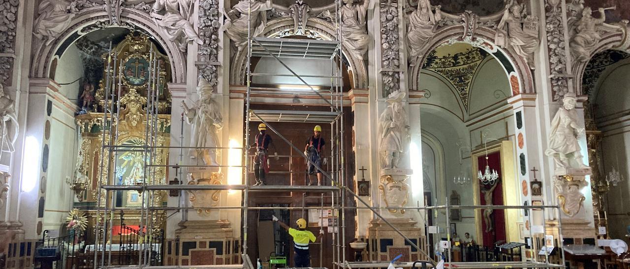 Comienzan las obras de restauración de los Santos Juanes de València
