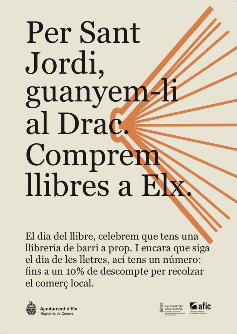 Campaña con motivo del Día del Libro en Elche