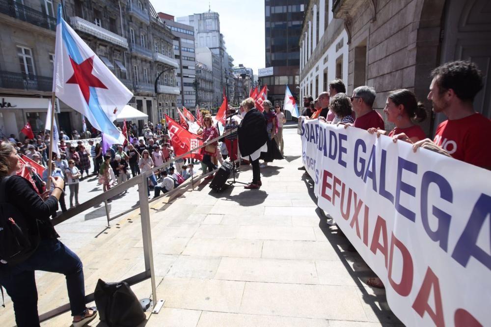 Manifestación en apoyo a los refugiados