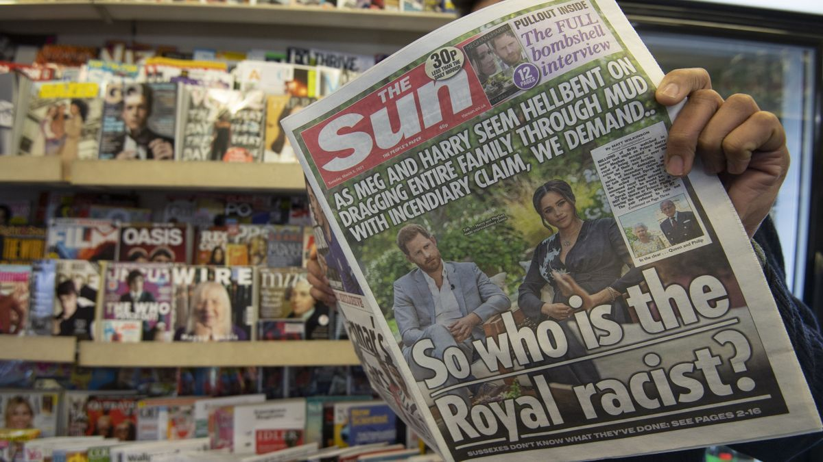 Portadas de los periódicos ingleses tras la entrevista de Harry y Meghan