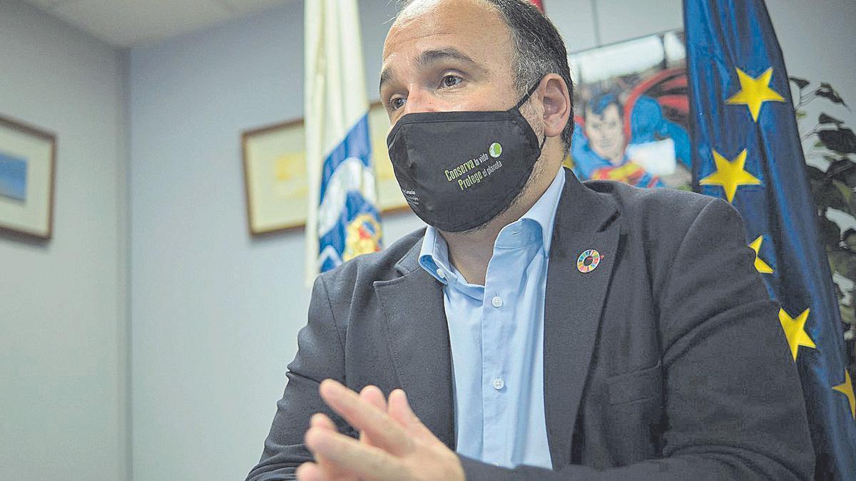 El consejero de Transición Ecológica, Lucha contra el Cambio Climático y Planificación Territorial,  J.A.Valbuena.