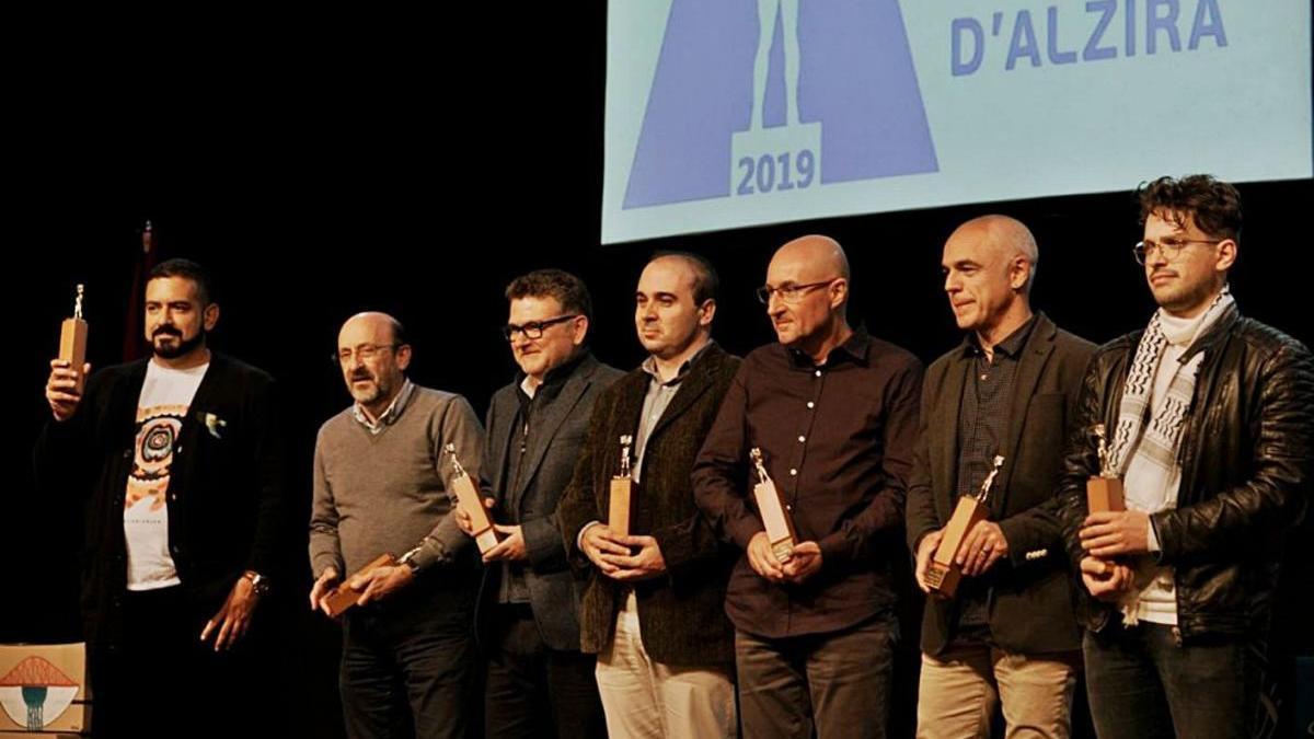Els guanyadors de l?última edició dels Premis Ciutat d?Alzira.