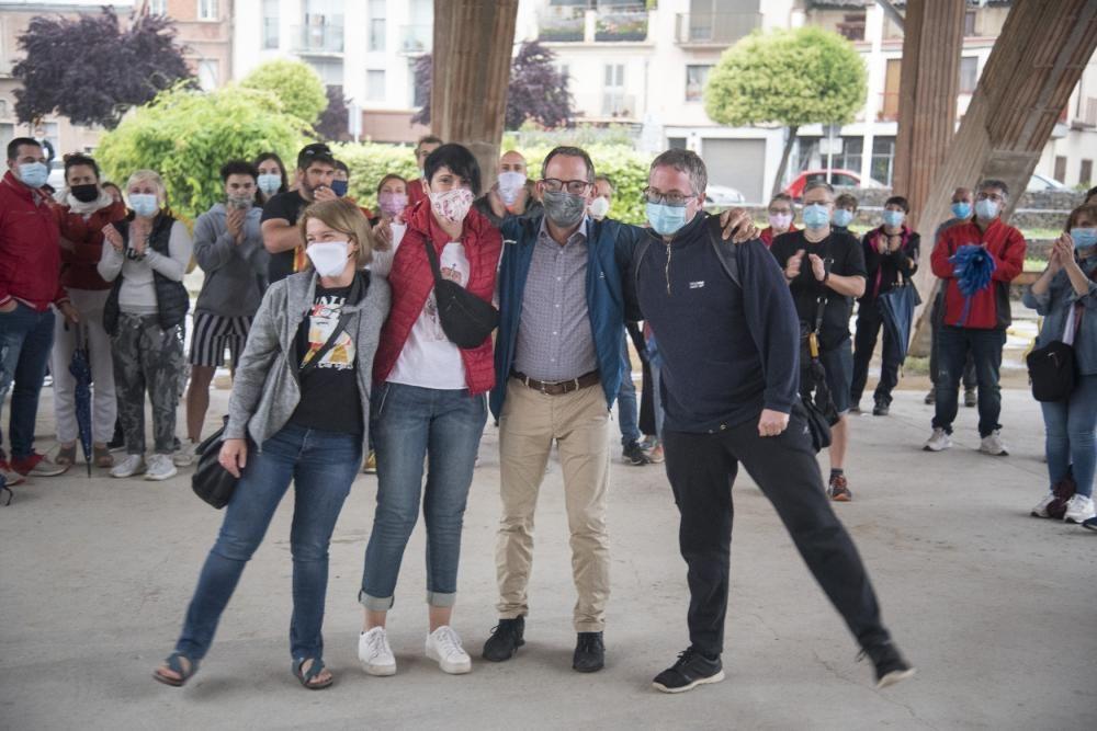 Protesta contra moció de censura de Sant Fruitós