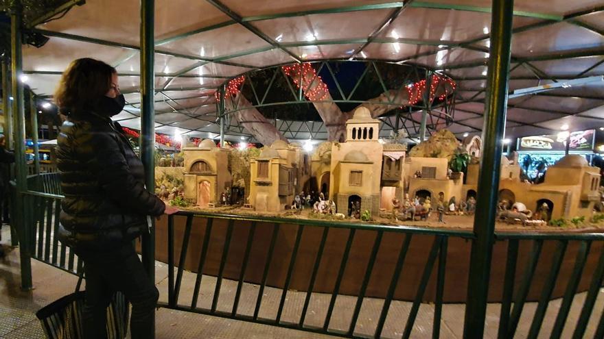 El tradicional belén del Parque de San Telmo abre sus puertas al público con aforo restringido