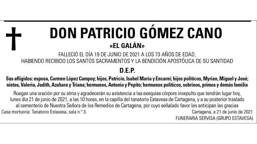 D. Patricio Gómez Cano