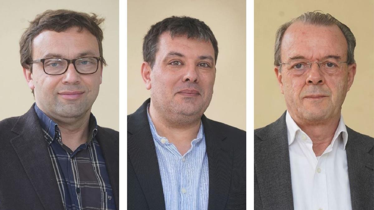 D'esquerra a dreta, Josep Callol, Oriol Puig i Jordi Xargayó