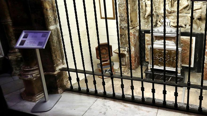 La catedral exhibe la argolla que sujetó a San Vicente Mártir