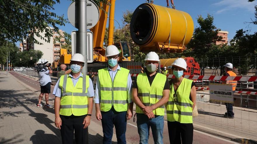 La apertura del túnel del nuevo colector de Palma reducirá en un 90% los vertidos a la bahía