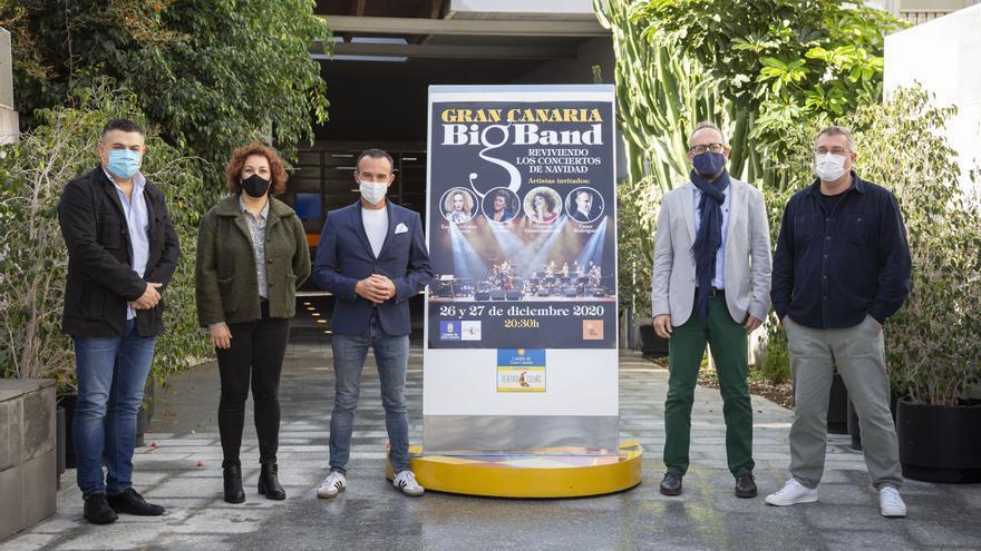 La Gran Canaria Big Band y cuatro artistas locales reviven en el Cuyás sus conciertos de Navidad