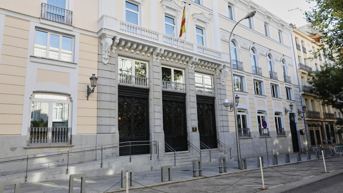 Fachada del edificio del Consejo General del Poder Judicial.