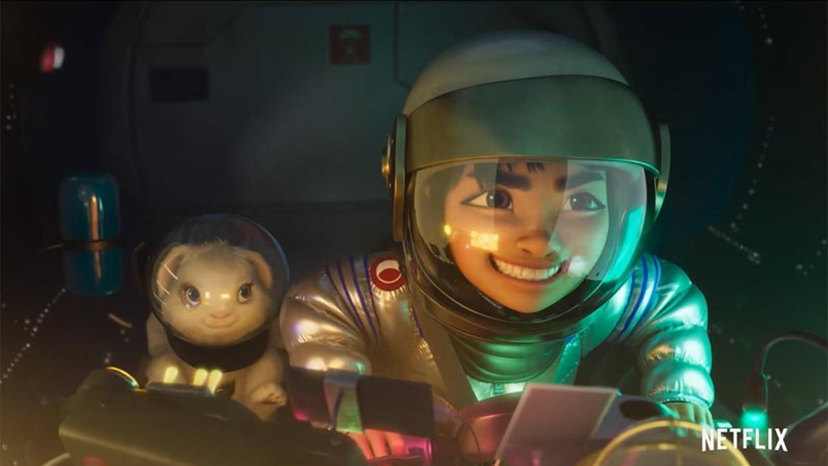 Una imagen del tráiler de  'Over The Moon'.