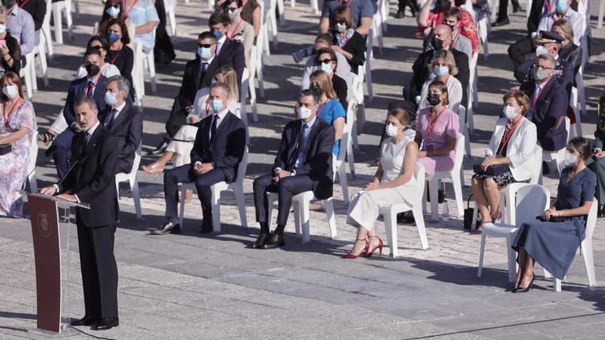 El Rey apela a la unidad en el homenaje a los sanitarios víctimas del covid