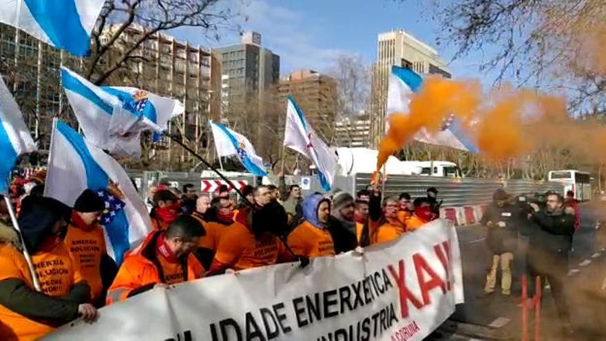 Trabajadores de la industria se manifiestan en Madrid para reclamar medidas para el futuro del sector