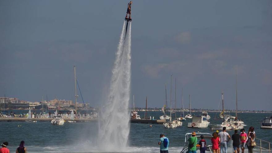 Suspenden el campeonato de flyboard para no dañar el Mar Menor