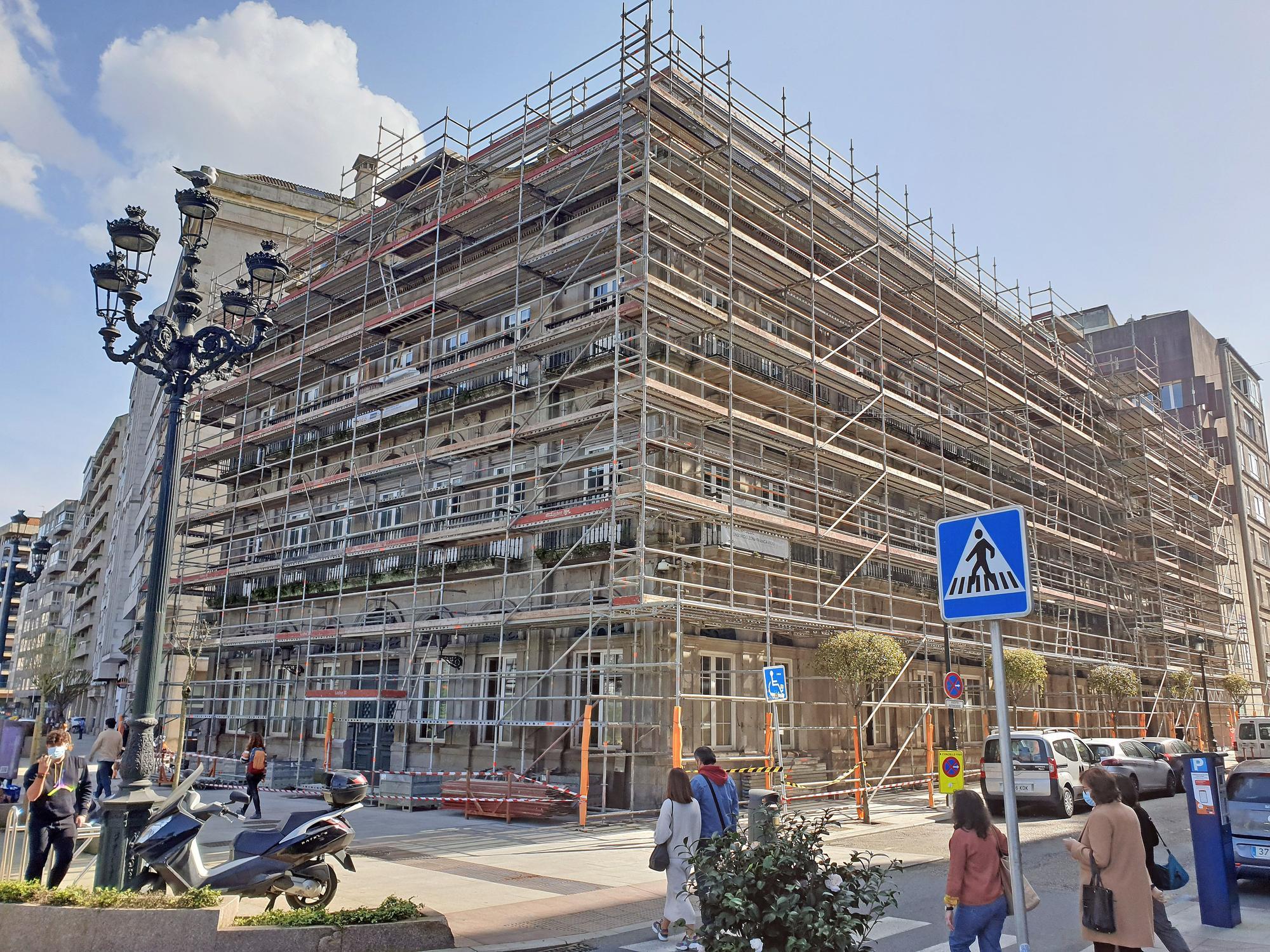 Obras de reforma del antiguo rectorado