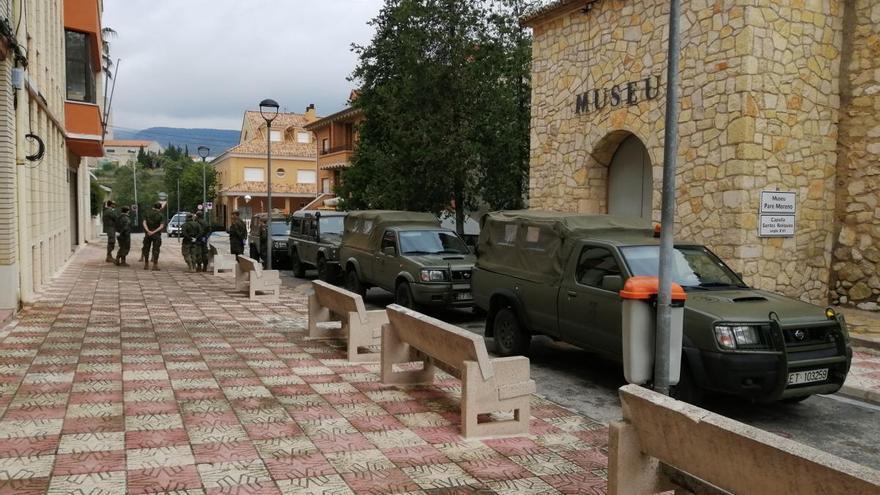 El ejército realiza labores de reconocimiento y seguridad en Xàtiva y Moixent