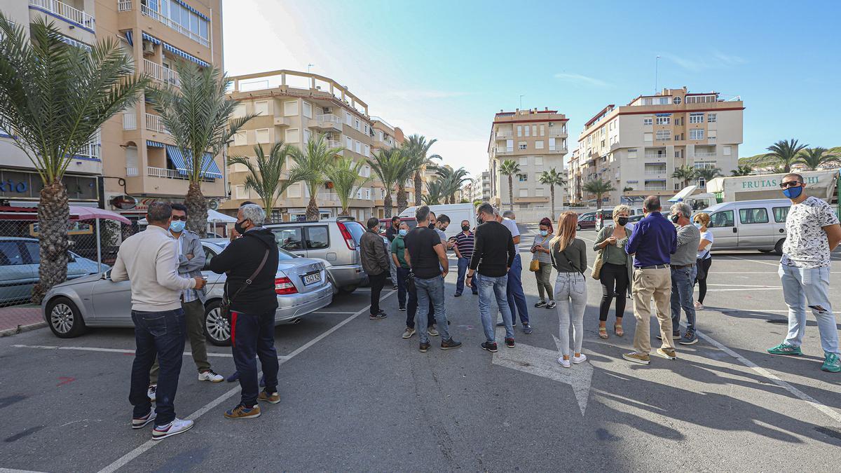 Imagen de una de las protestas de los comerciantes del mercadillo el pasado mes de septiembre