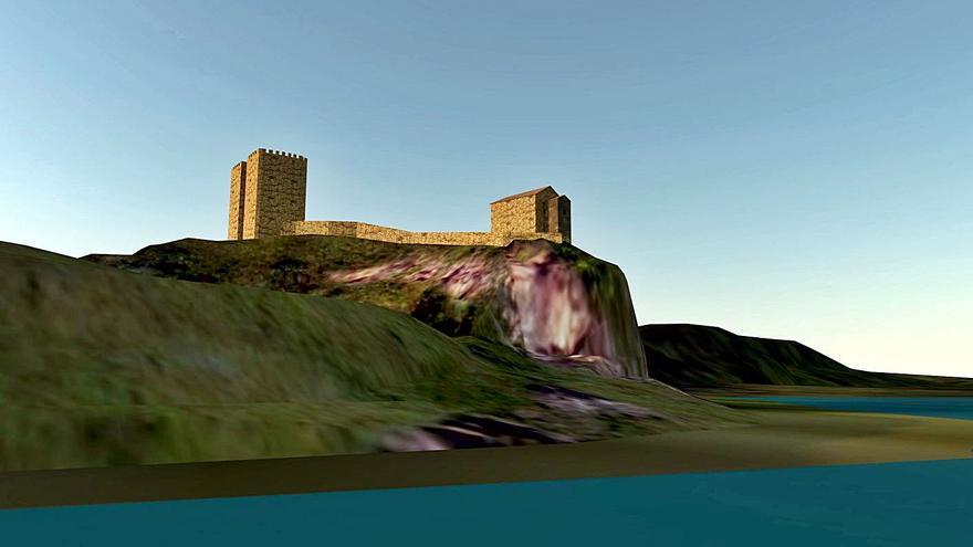 El castillo de Gauzón, reedificado a través de la realidad virtual