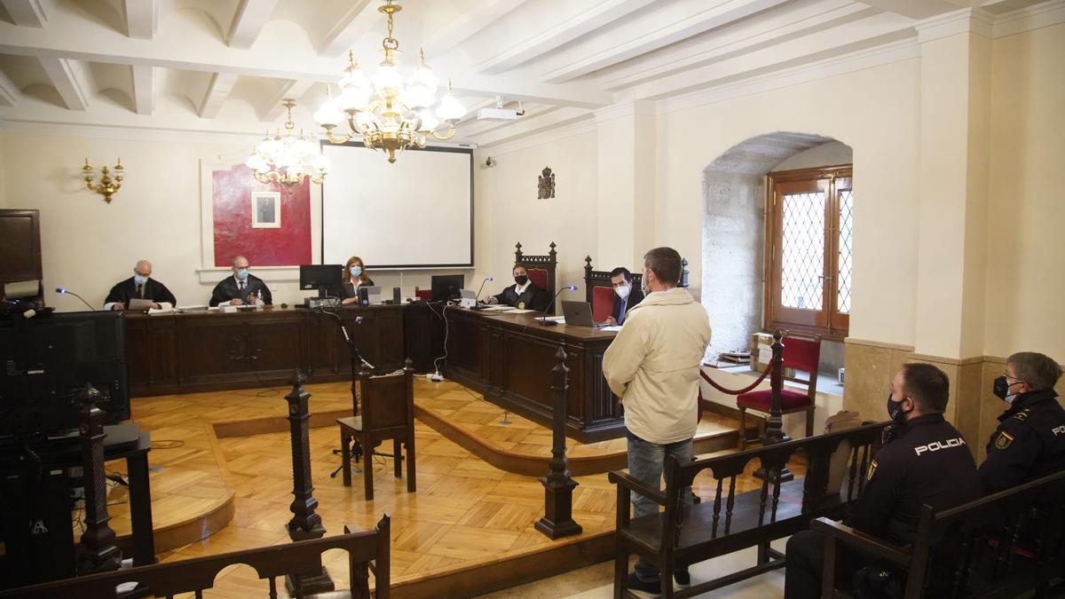 Un momento del juicio celebrado esta mañana de martes en Zamora.