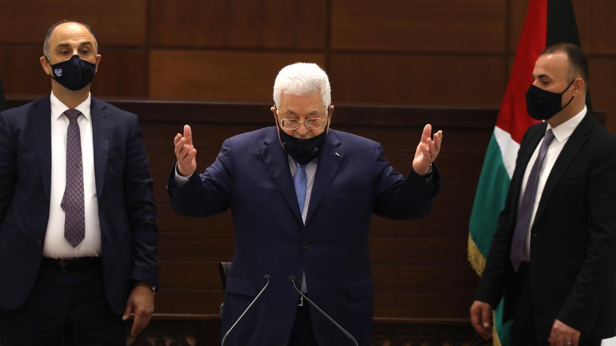 El presidente palestino, Mahmud Abás.