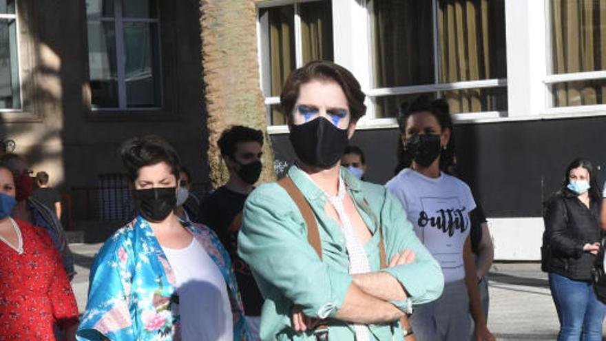"""Artistas líricos protestan en A Coruña contra restricciones """"infundadas"""""""