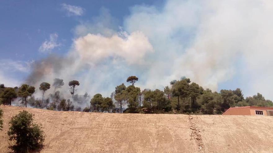 Un incendi crema 1,5 hectàrees prop del Mujal, a Navàs