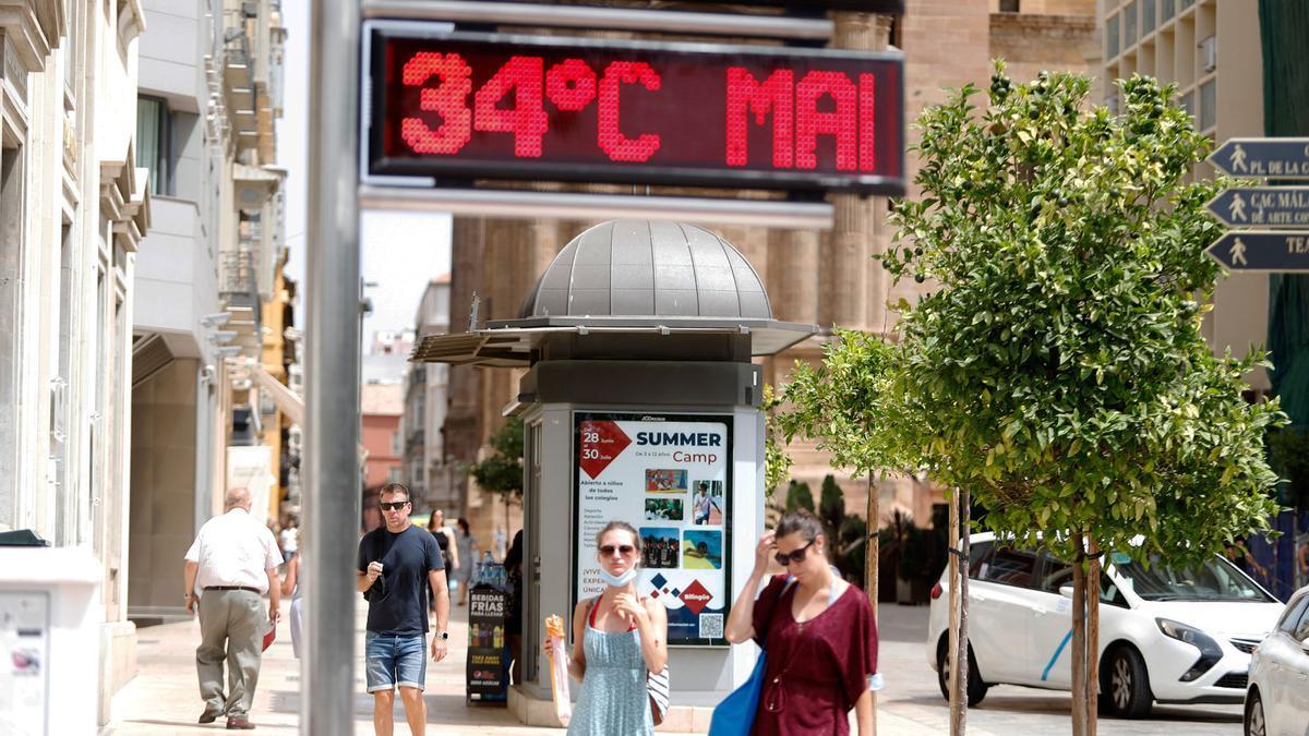 Una imagen del centro de Málaga el pasado lunes.