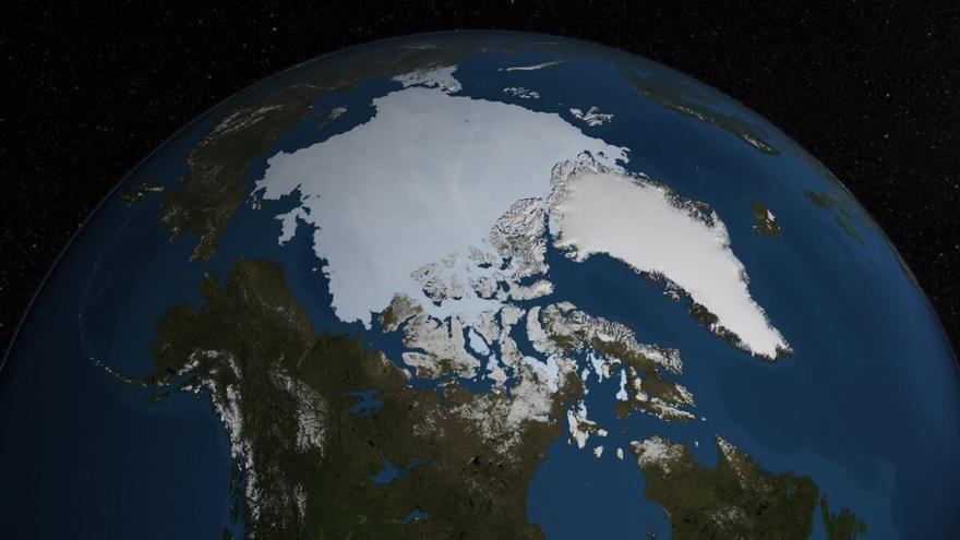 Aparece un agujero en el hielo del Ártico casi tan grande como Mallorca